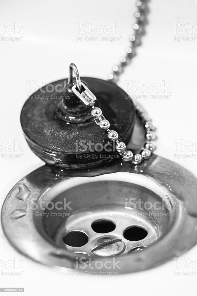 Sink and plug royalty-free stock photo