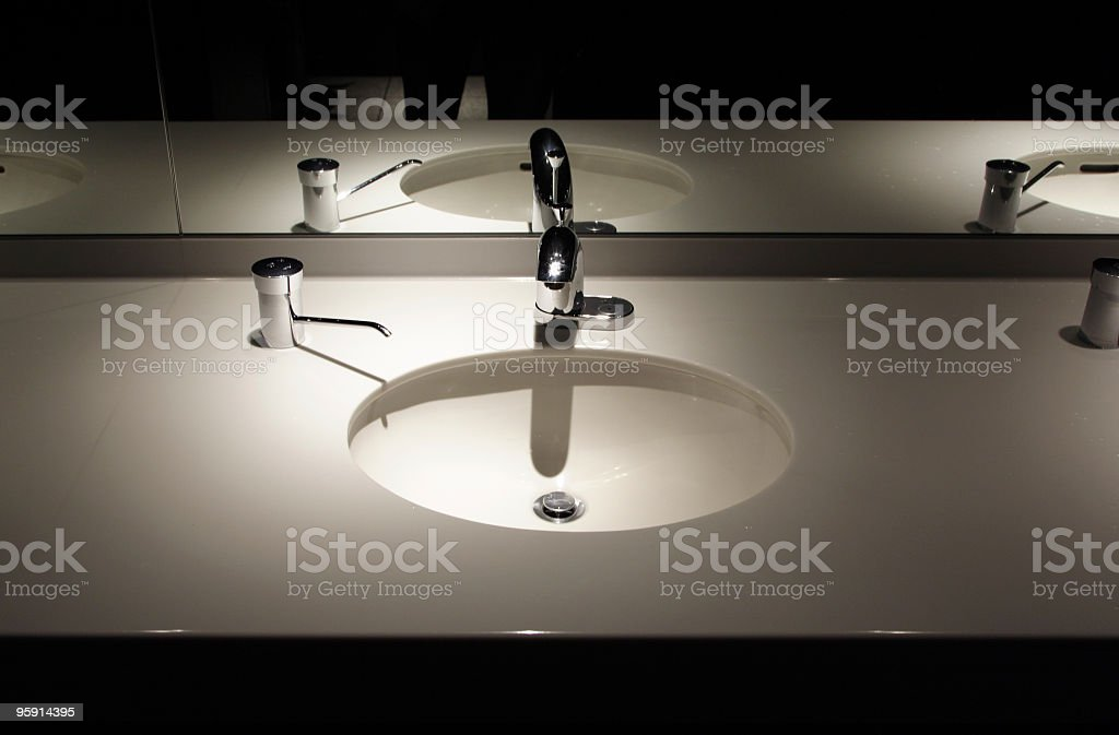 Sink in restroom. royalty-free stock photo