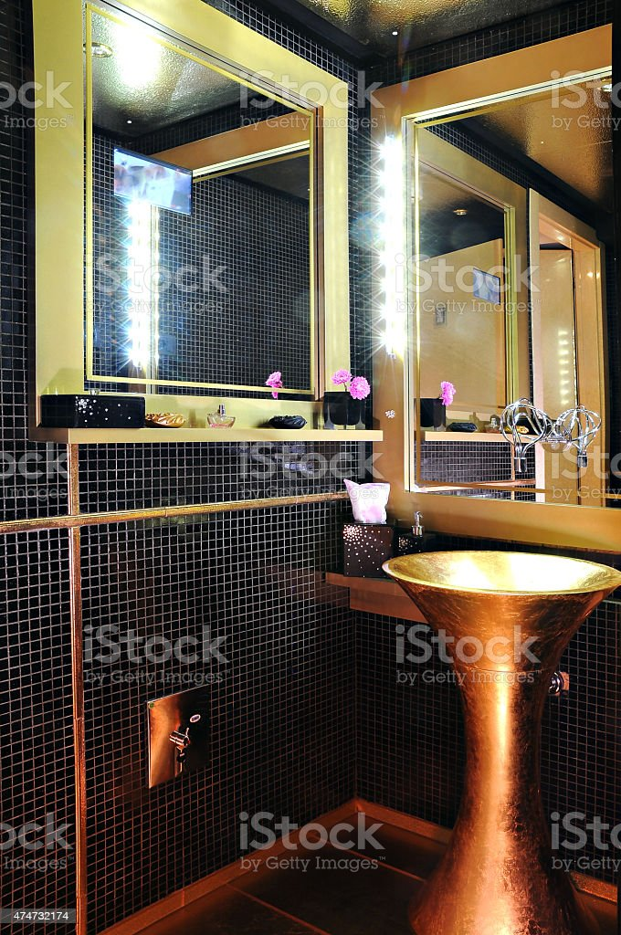 Sink in the room of the restaurant stock photo