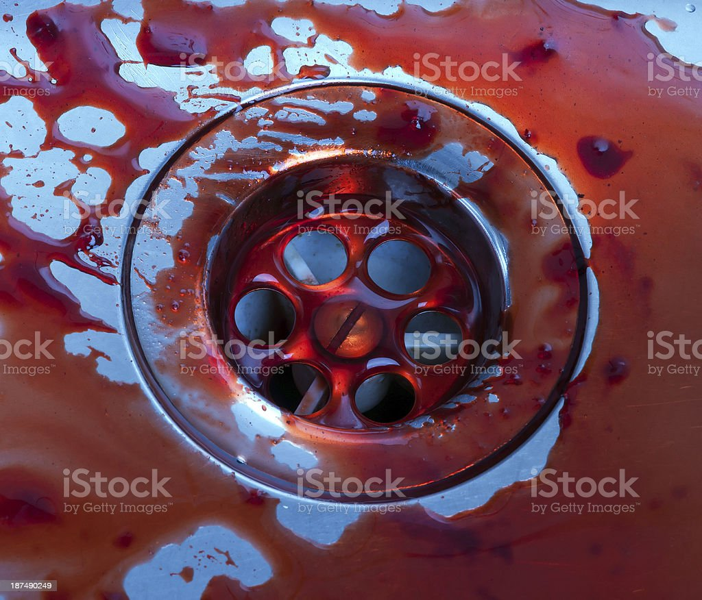 sink stained with blood royalty-free stock photo