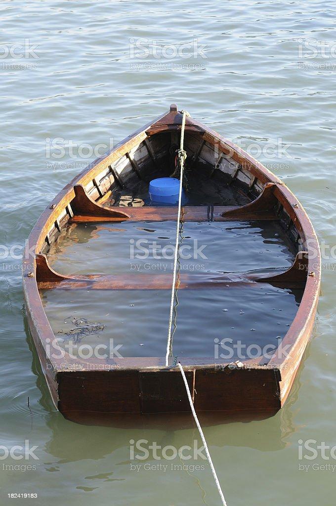 Sinking Boat, Dartmouth royalty-free stock photo