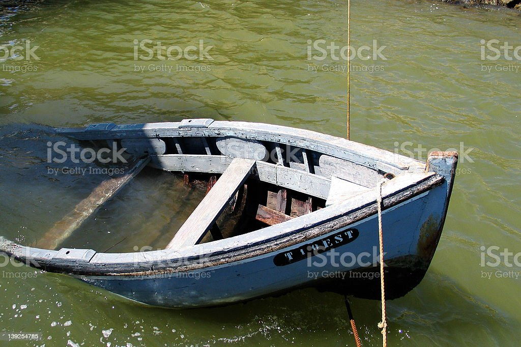 sinking boat royalty-free stock photo