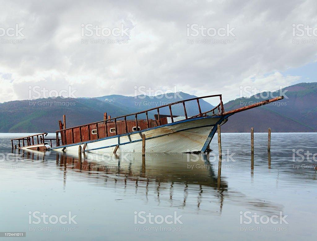 Sinking Boat royalty-free stock photo