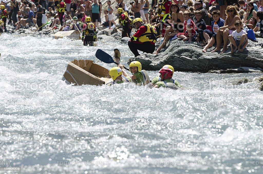 Sinking carton Boat royalty-free stock photo