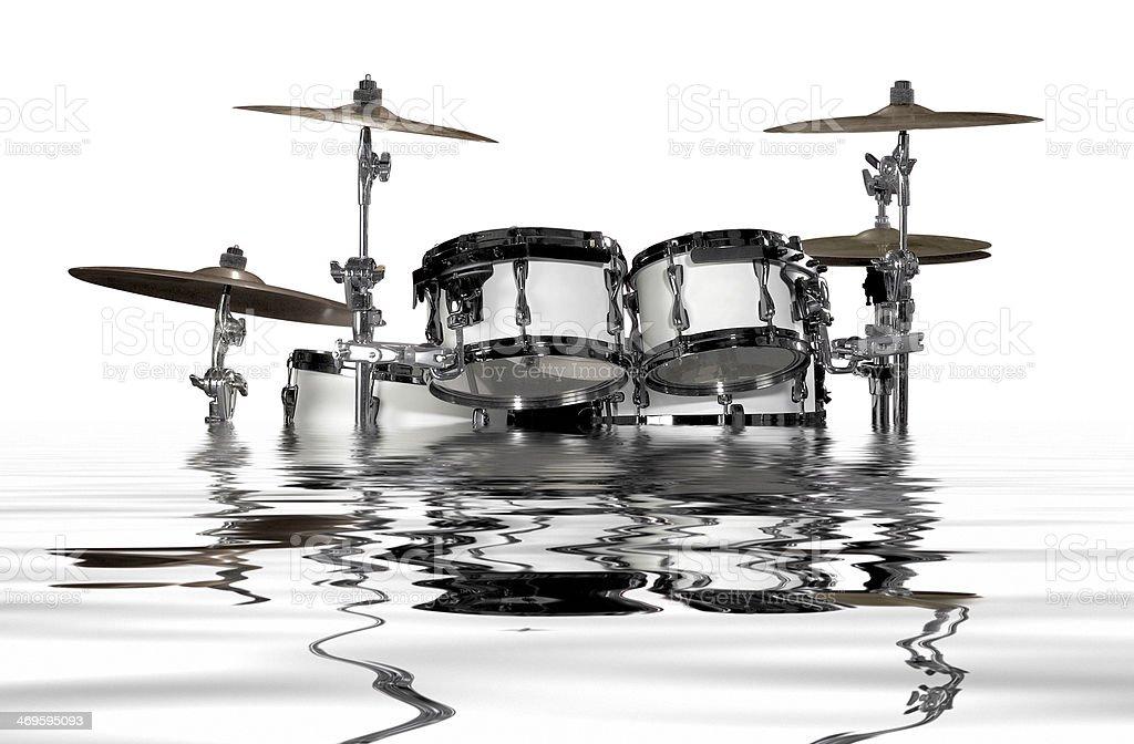 sinking drum kit stock photo