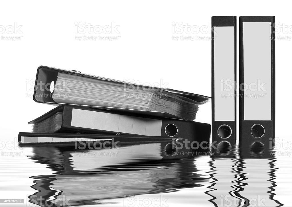 sinking folders stock photo