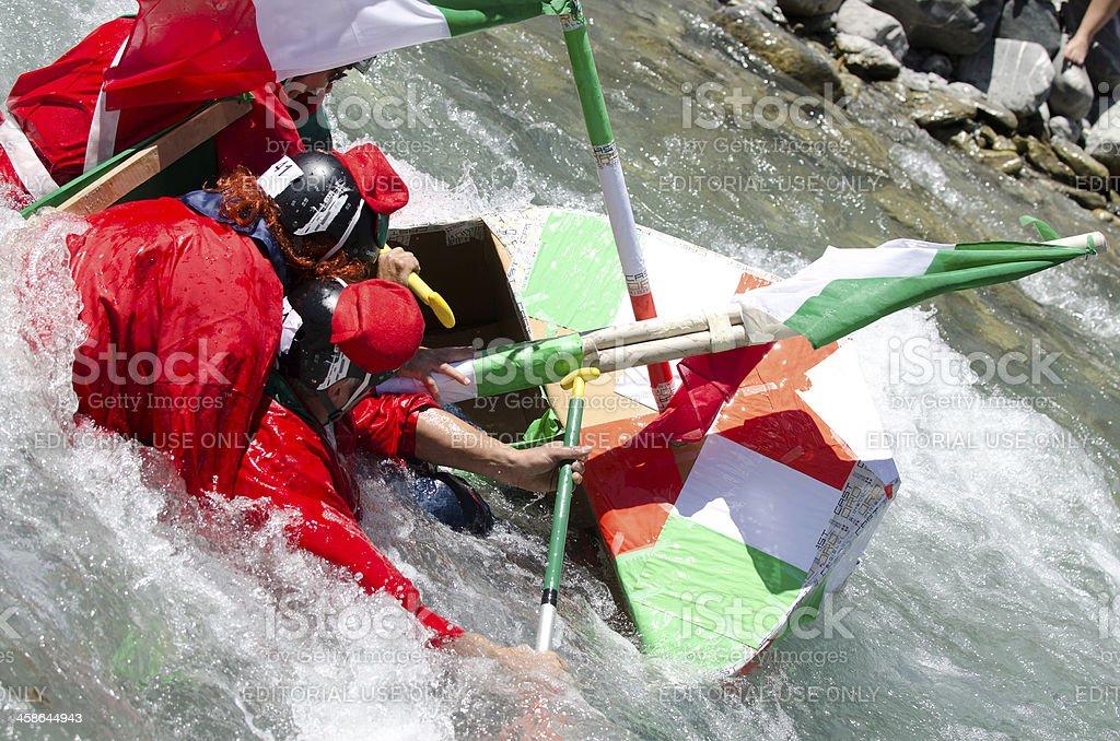 Sinking italian carton Boat royalty-free stock photo