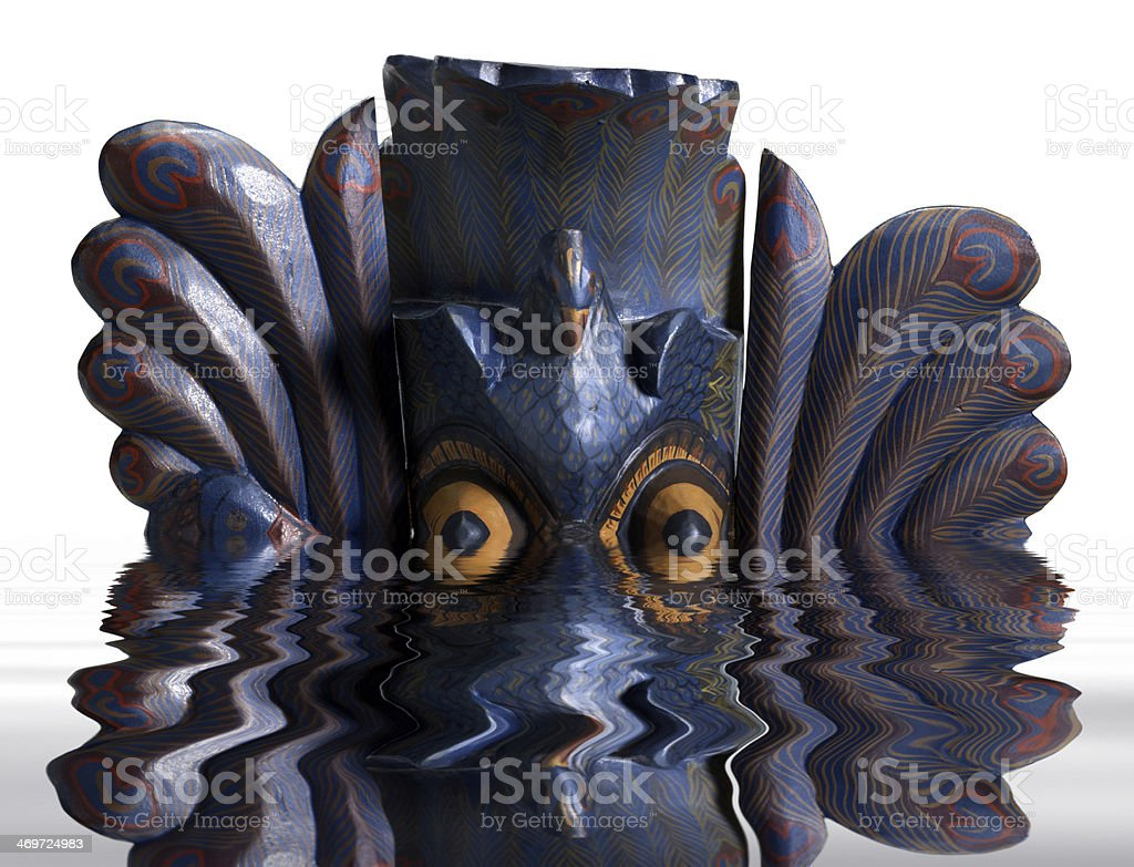 sinking mask stock photo