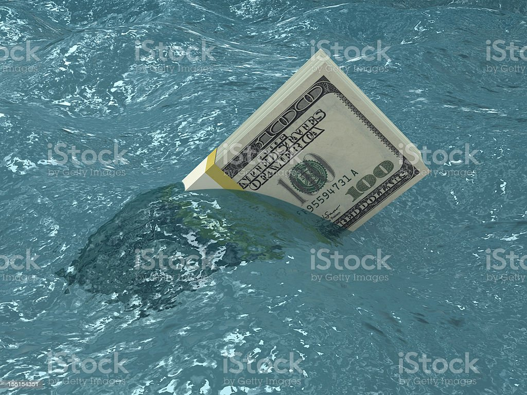 Sinking Money royalty-free stock photo