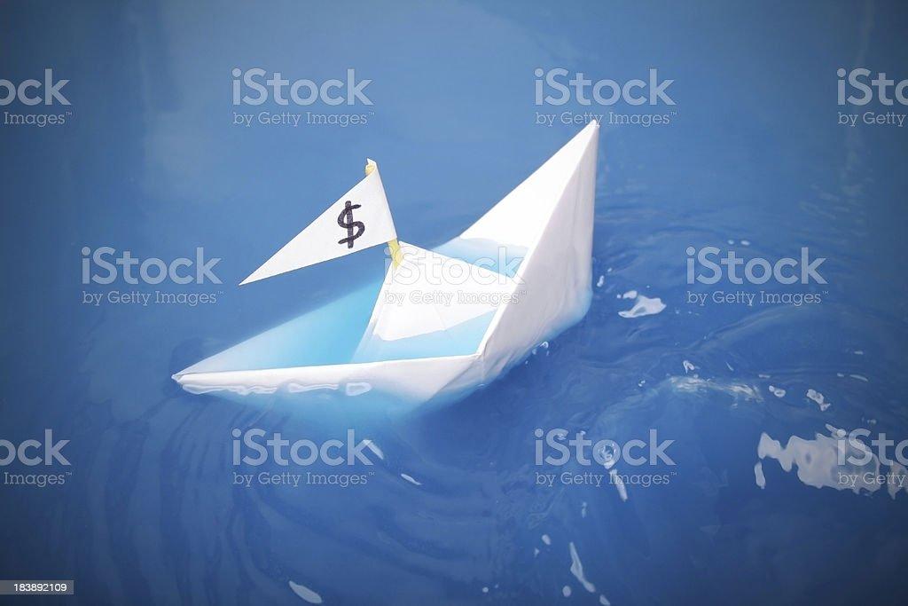 Sinking stock photo