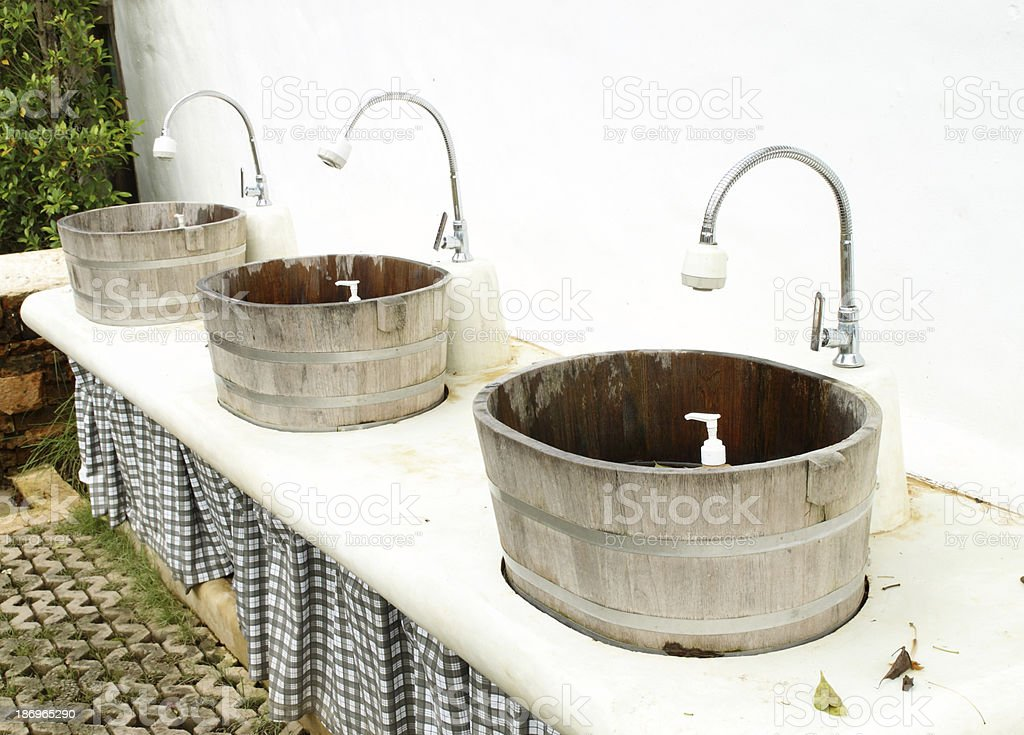 sinks and taps outdoor royalty-free stock photo