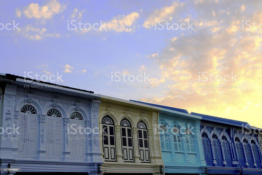 Sino-Portuguese buildings stock photo