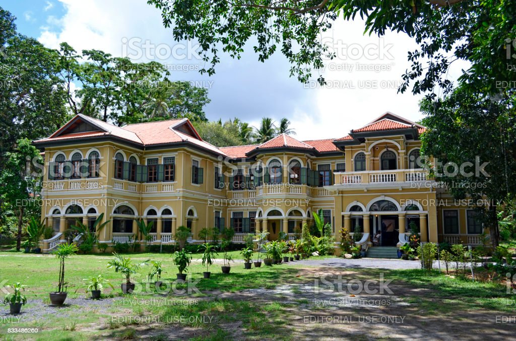 Sino-Portuguese style Governor's Mansion in Phuket Town stock photo