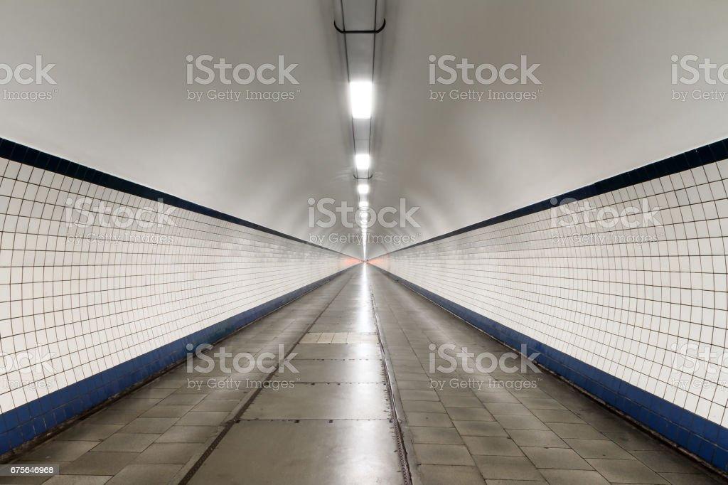 Sint Annatunnel Antwerp stock photo