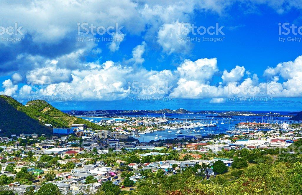 Sint Maarten (St.Martin) island, Caribbean sea stock photo