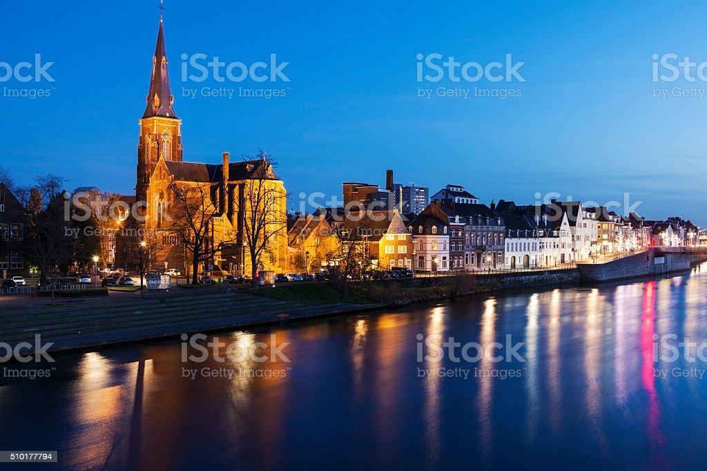 Sint Martinuskerk Church in Maastricht stock photo
