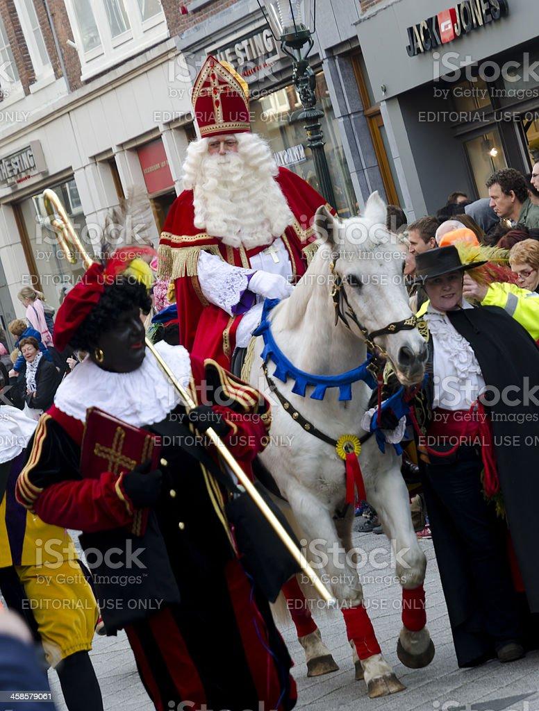 Sinterklaas and Zwarte Piet stock photo