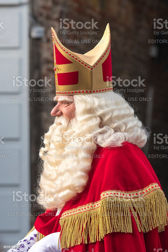 Sinterklaas arriving in The Netherlands for the Sint Nicolaas festival stock photo