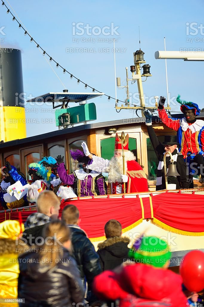 Sinterklaas Arriving stock photo