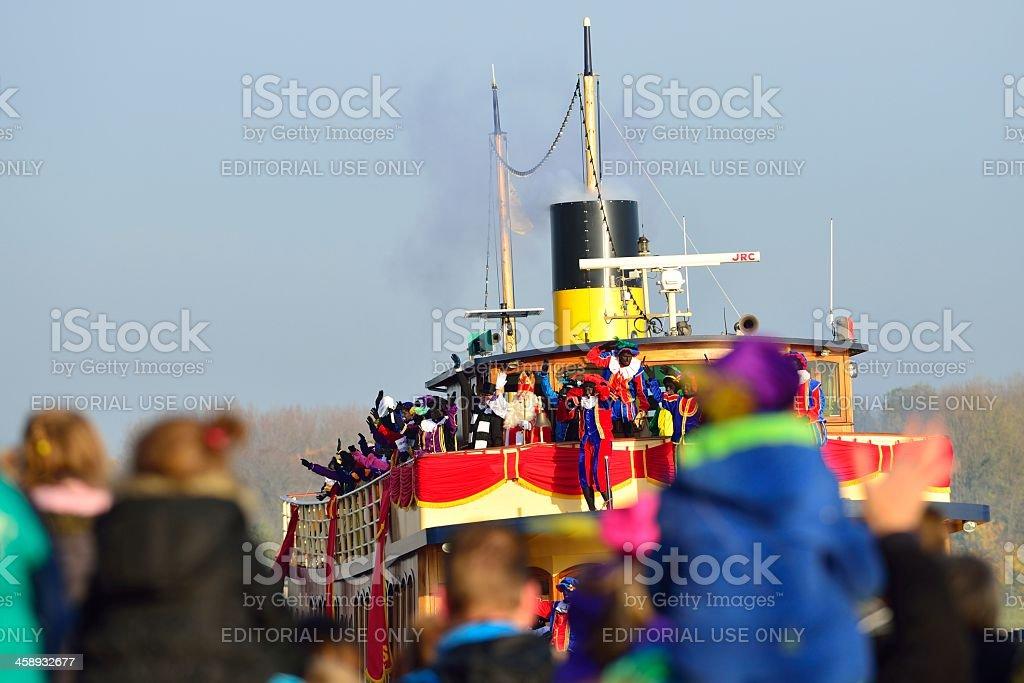 Sinterklaas Arriving royalty-free stock photo