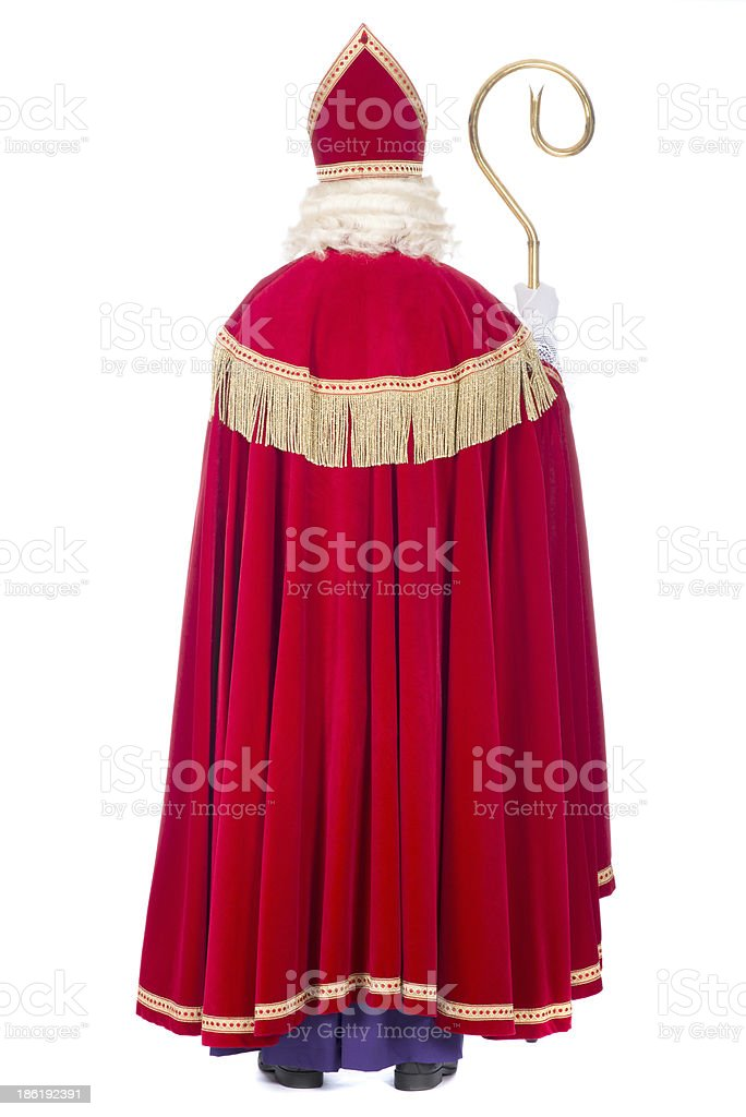 Sinterklaas from the back stock photo