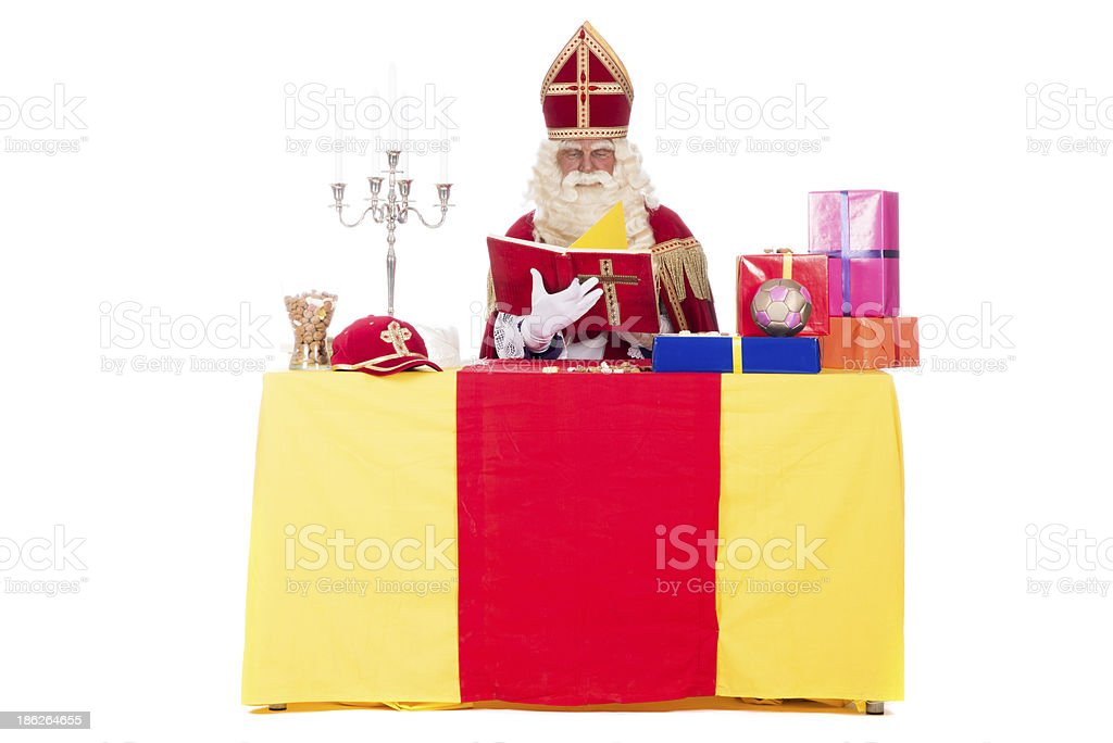 Sinterklaas is working stock photo