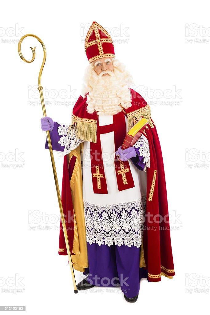 Sinterklaas on white background stock photo