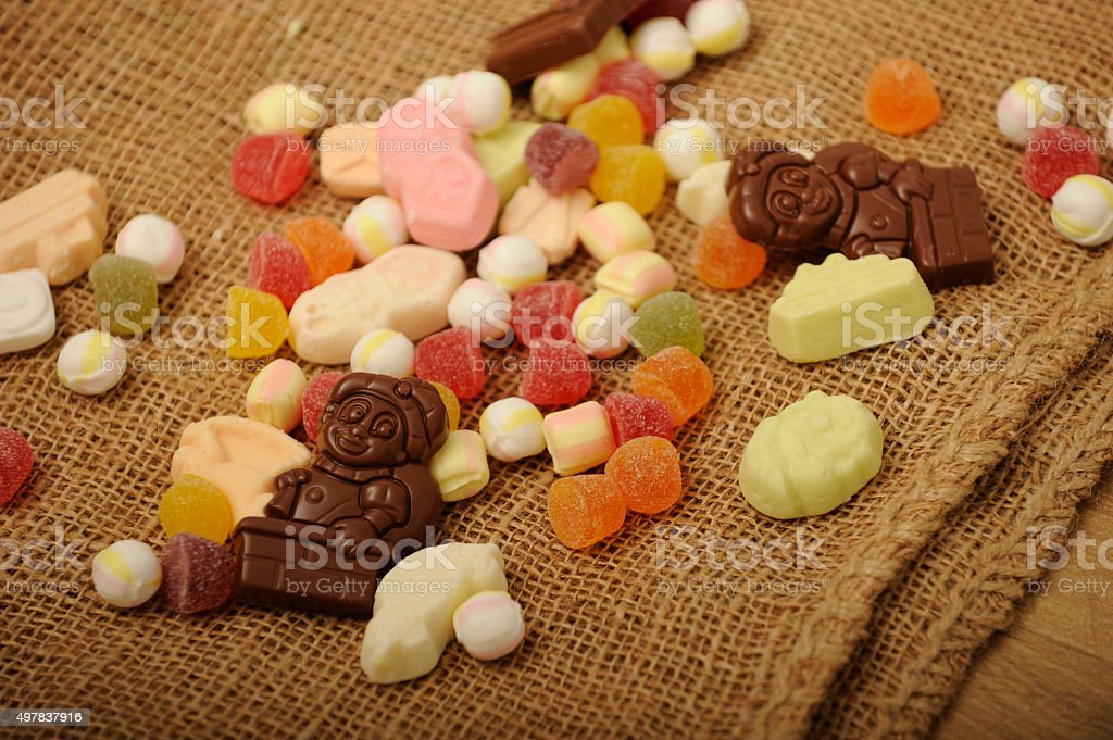 Sinterklaas sweets and chocolate stock photo