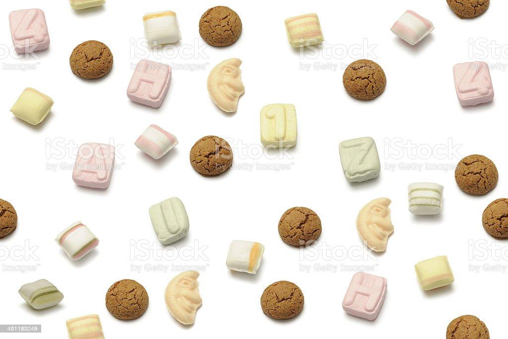 sinterklaas sweets stock photo