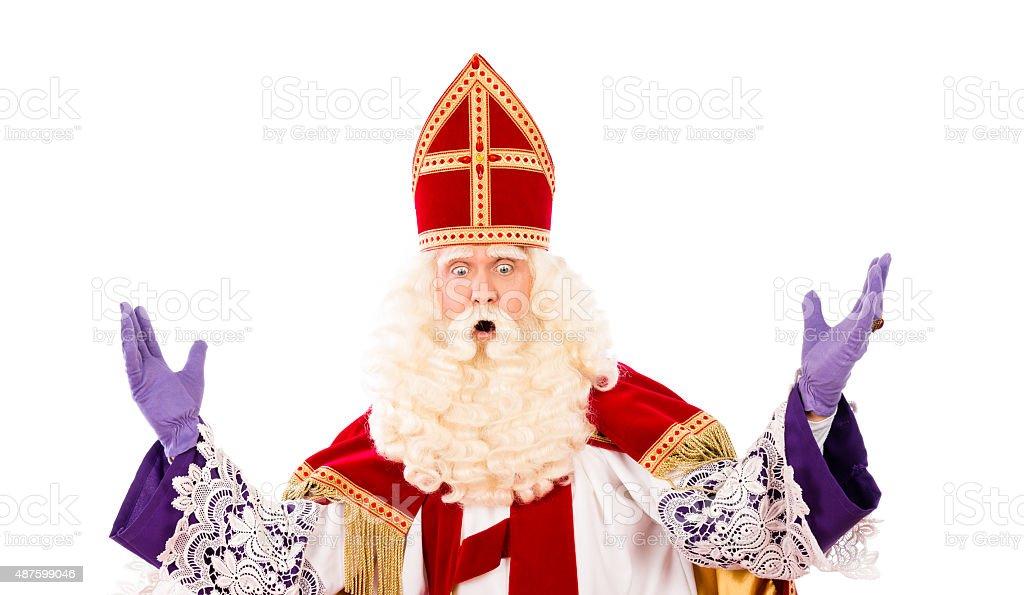 Sinterklaas with expression stock photo