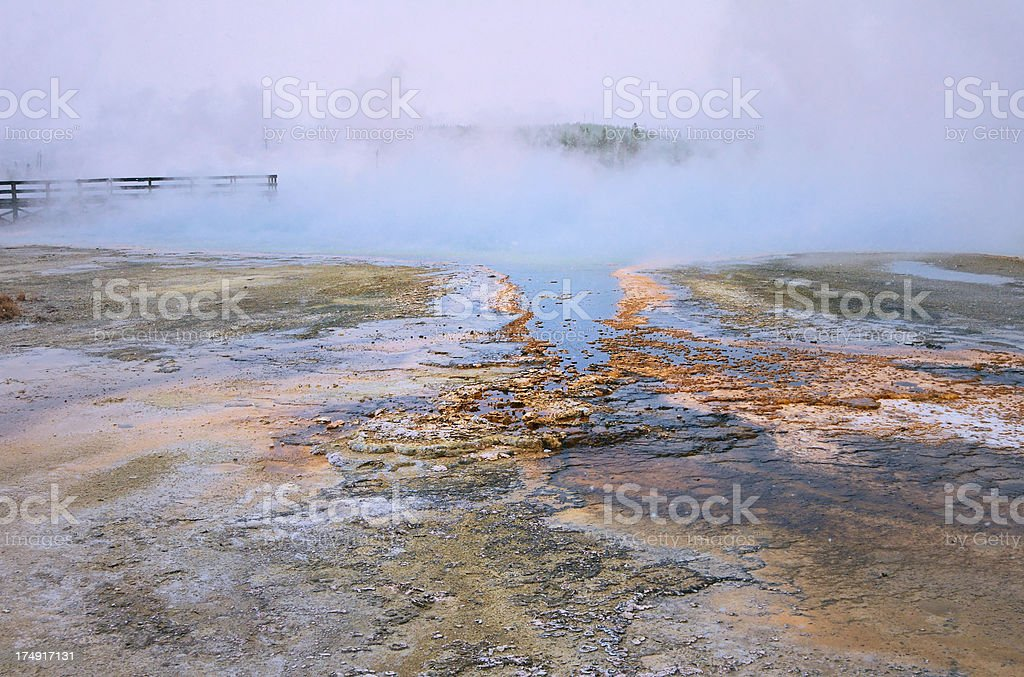 Sinters and Rainbow Pool royalty-free stock photo