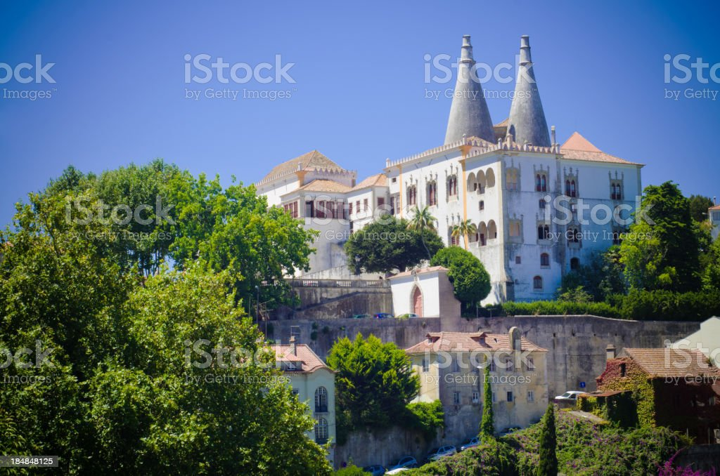 Sintra National Palace in Portugal stock photo