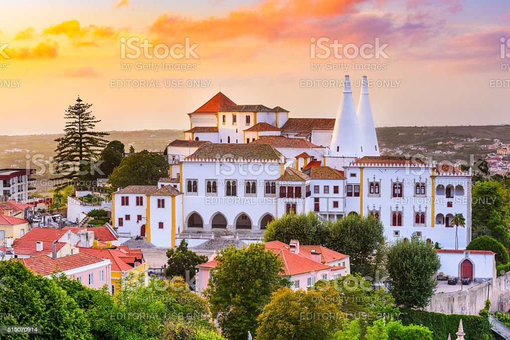 Sintra National Palace stock photo