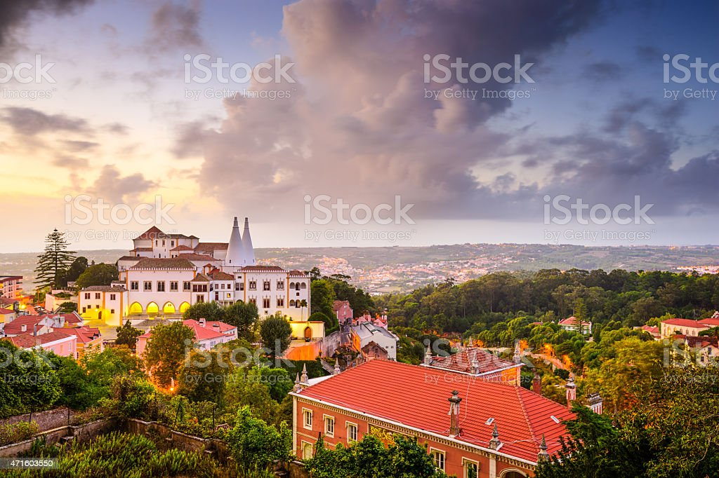 Sintral Portugal Town Skyline stock photo
