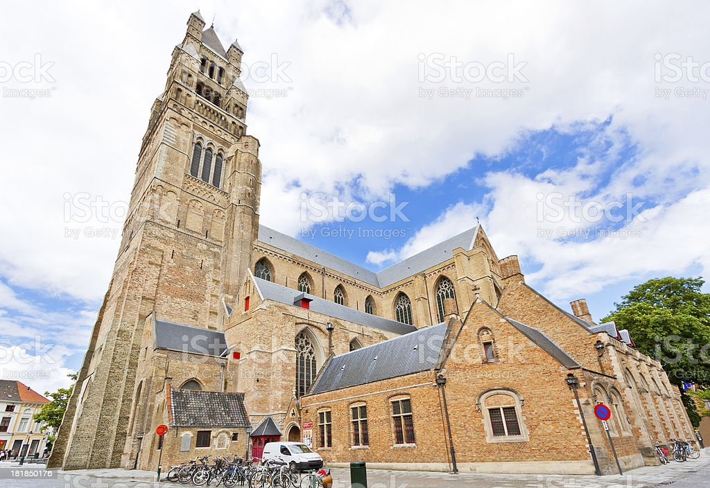 Sint-Salvator Cathedral in Bruges. royalty-free stock photo