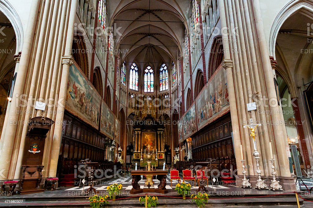 Sint-Salvator Cathedral in Bruges. stock photo