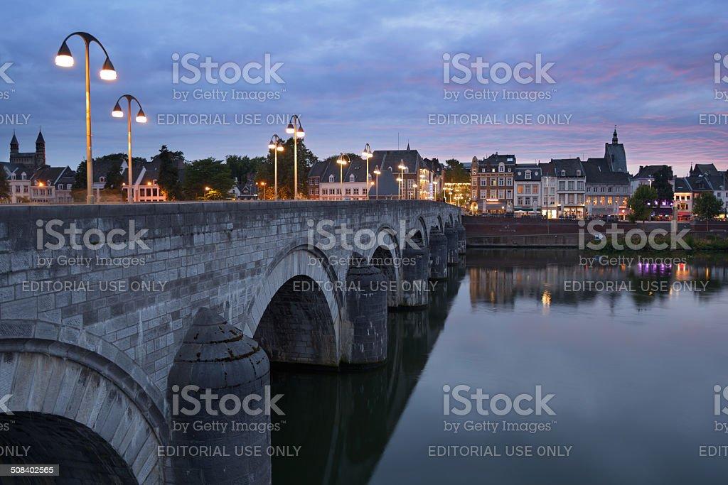 Sint-Servaasbrug in Maastricht, Netherlands stock photo