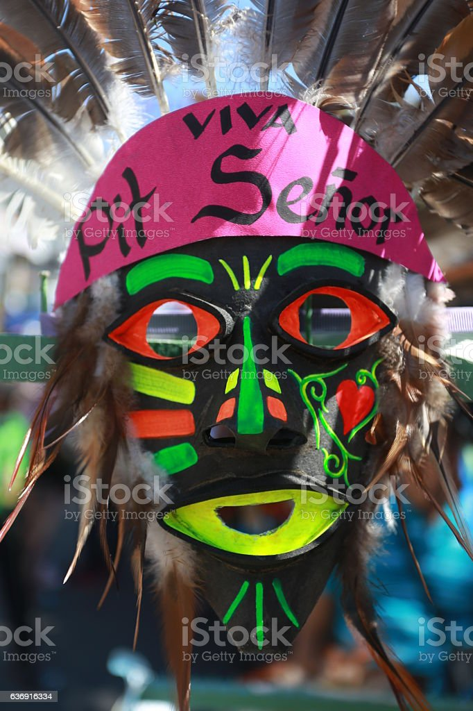 Sinulog Festive Tribal Mask stock photo