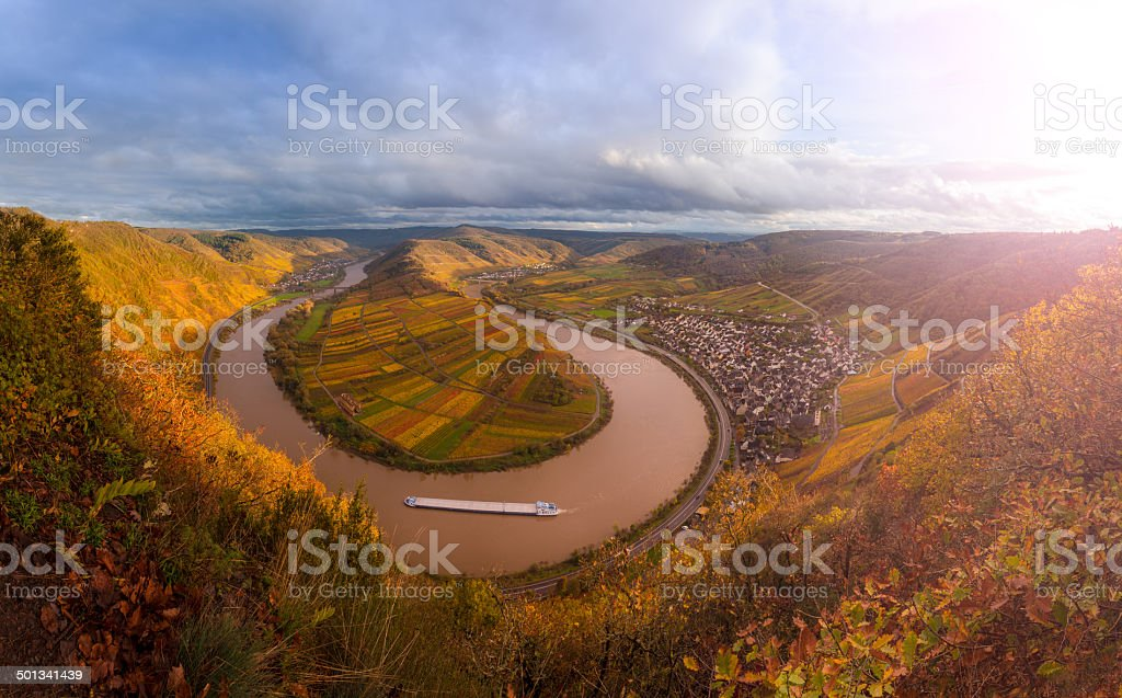 Sinuosity Moselle stock photo