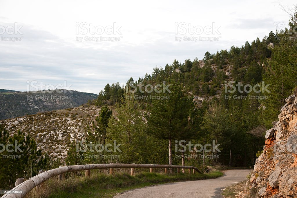 Sinuous road stock photo
