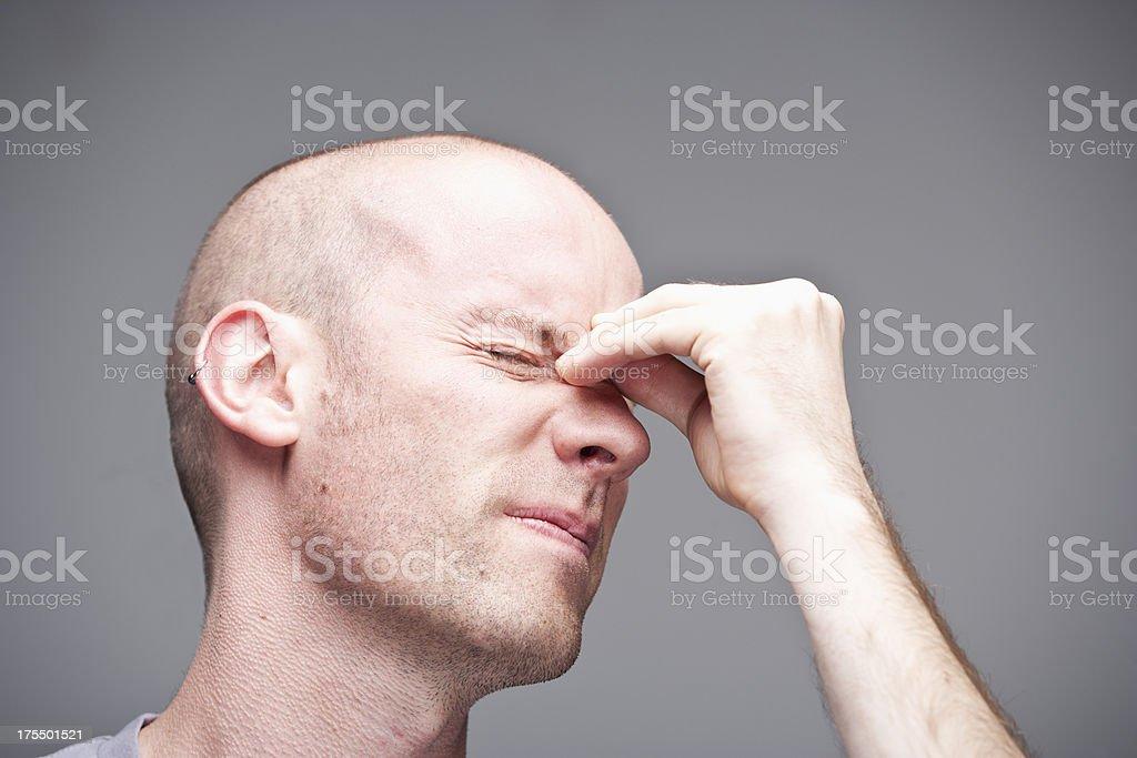 Sinusitis stock photo