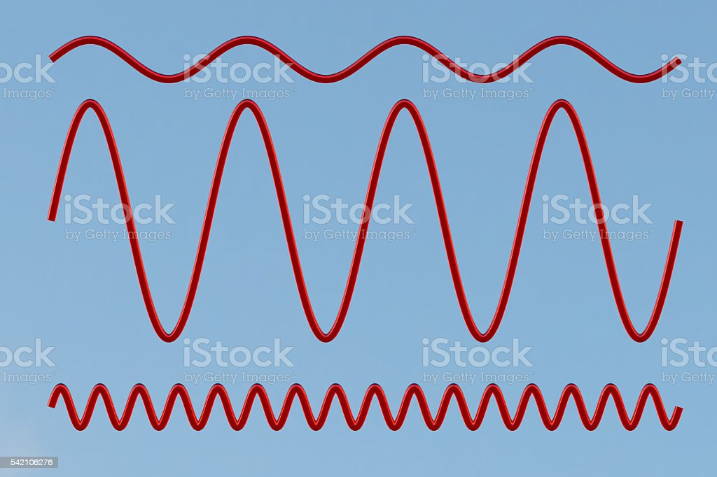 Sinusoid. 3d illustration stock photo
