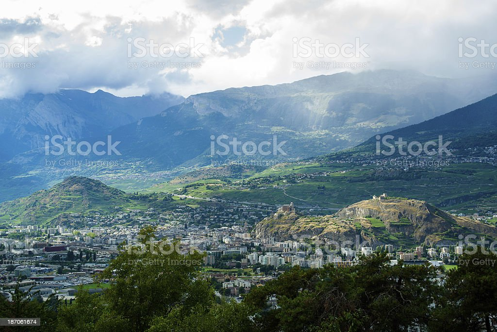 Sion cityscape stock photo