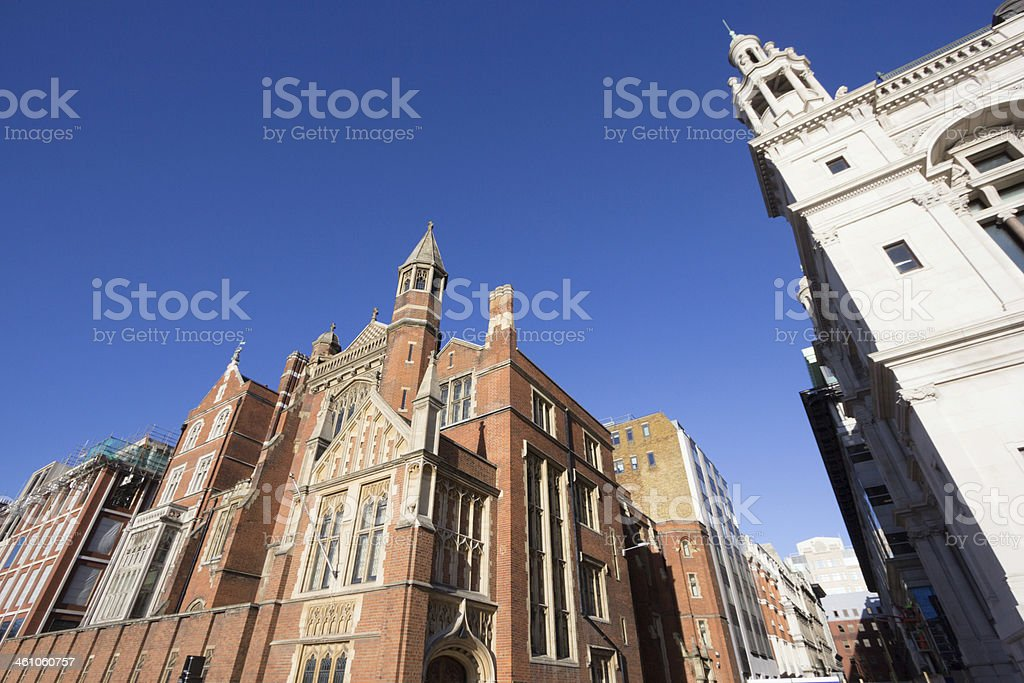 Sion Hall on Victoria Embankment, London stock photo