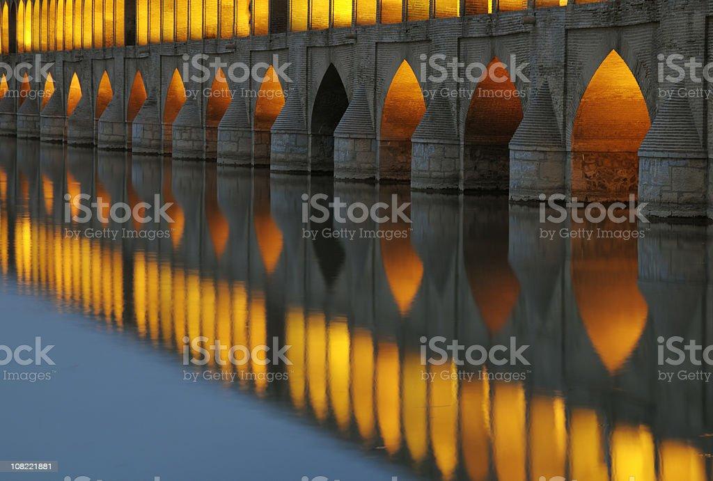 Si-o-se Pol Bridge, Isfahan, Iran royalty-free stock photo
