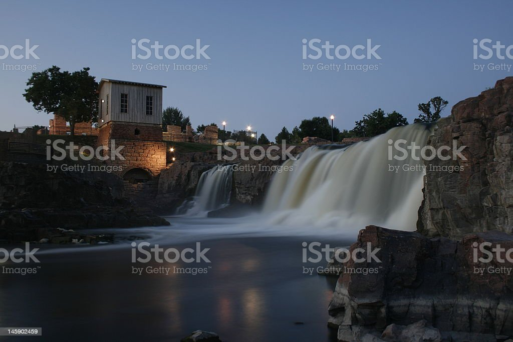 Sioux Falls Park at Dawn, South Dakota royalty-free stock photo