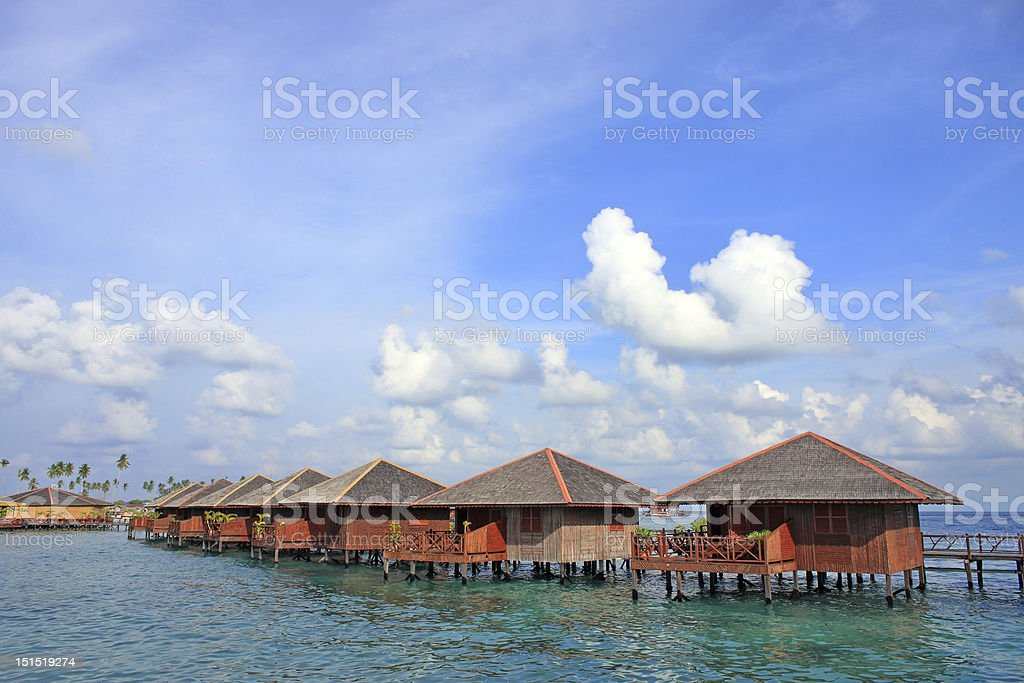 Sipdan Water Village Resort royalty-free stock photo