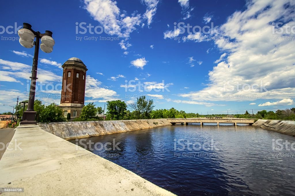 Siphon Bridge And Manistique Waterworks stock photo
