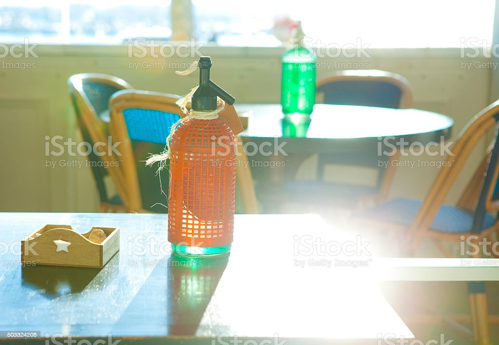Siphons in the sun stock photo