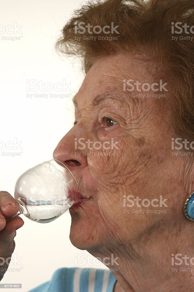 Sipping liquor royalty-free stock photo